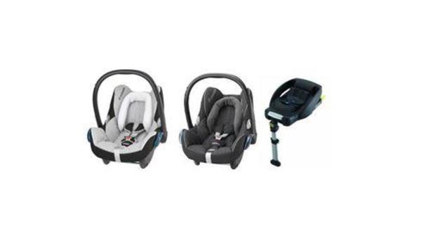2 maxi cosi cabrio fix babyschalen und 1 isofix. Black Bedroom Furniture Sets. Home Design Ideas