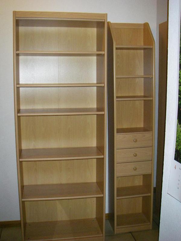 breites regal b h t 72 194 35 20 eur schmales regal mit 3. Black Bedroom Furniture Sets. Home Design Ideas