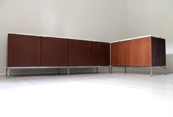 2 x sideboard kommode knoll international florence palisander xxl in frankfurt. Black Bedroom Furniture Sets. Home Design Ideas