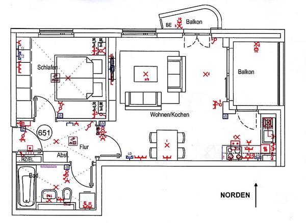 2 zimmer wohnung mit loggia balkon stellpl tze f r pkw. Black Bedroom Furniture Sets. Home Design Ideas