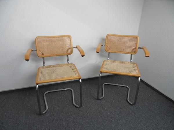 2x freischwinger aus korbgeflecht mit armlehnen korbst hle in sindelfingen speisezimmer. Black Bedroom Furniture Sets. Home Design Ideas