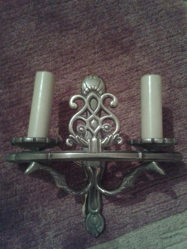 antike wandlampe messing 2 armig in darmstadt sonstige antiquit ten kaufen und verkaufen ber. Black Bedroom Furniture Sets. Home Design Ideas