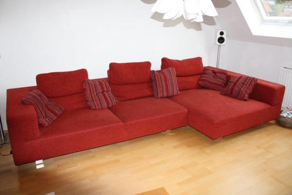 rotes sofa neu und gebraucht kaufen bei. Black Bedroom Furniture Sets. Home Design Ideas
