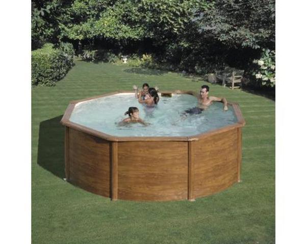 Ausverkauft 40 neu pool stahlwandbecken 240x120 for Pool holzdekor