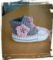 Baby Schuhe, gehäkelt