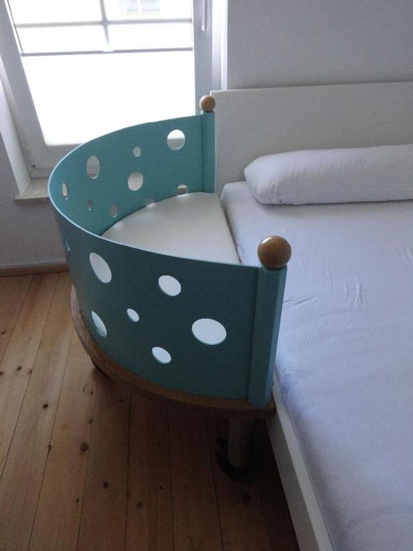 babybett bett fahrbar beistelltisch beistellbett 114 x 88 cm in aying wiegen babybetten. Black Bedroom Furniture Sets. Home Design Ideas