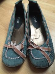 Ballerinas Sneakers blau