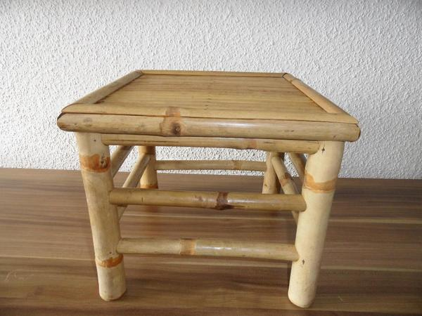 bambus beistelltisch oder blumenhocker in erlangen. Black Bedroom Furniture Sets. Home Design Ideas