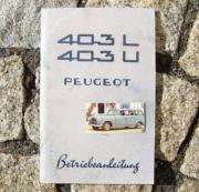 Betriebsanleitung Peugeot 403