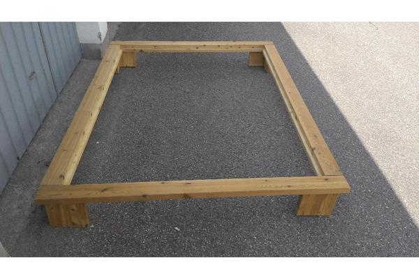 bettrahmen f r futon massivholz kiefer ge lt m belum 140x200 in regensburg betten kaufen und. Black Bedroom Furniture Sets. Home Design Ideas