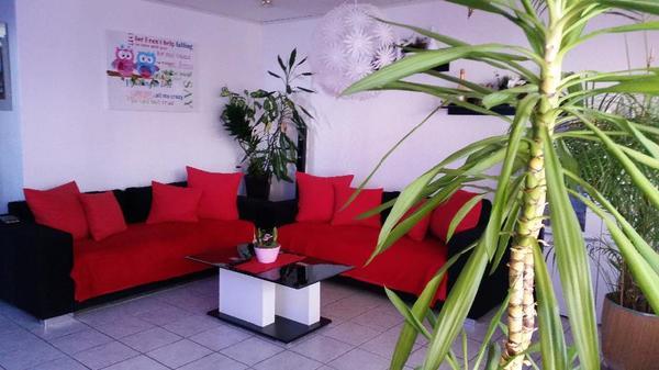 big sofa xl farbe schwart rot in idstein polster sessel couch kaufen und verkaufen ber. Black Bedroom Furniture Sets. Home Design Ideas