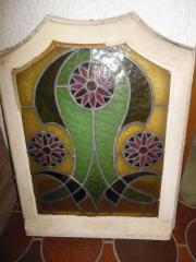 Bleiglasfenster mit Holzrahmen