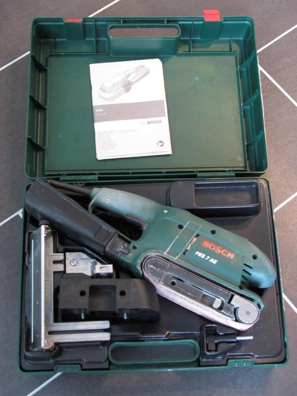 bosch bandschleifger te set bosch bandschleifer pbs 7 ae electronic in k ln ger te maschinen. Black Bedroom Furniture Sets. Home Design Ideas
