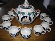 Bowlegefäß mit Tassen