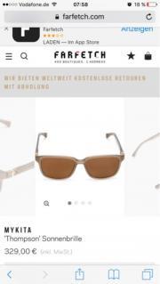 Braune 'Thompson' Sonnenbrille