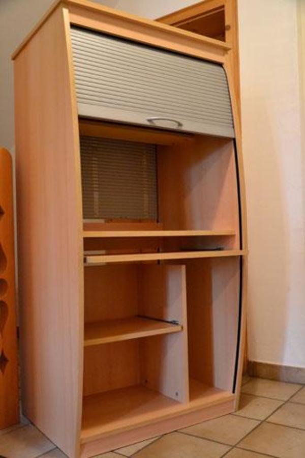computerschrank schrank mit rollt re in baiern computerm bel kaufen und verkaufen ber. Black Bedroom Furniture Sets. Home Design Ideas