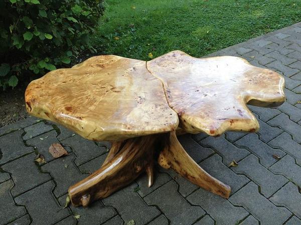 Couchtisch wohnzimmertisch wurzelholz handgefertigt unikat for Wohnzimmertisch quoka