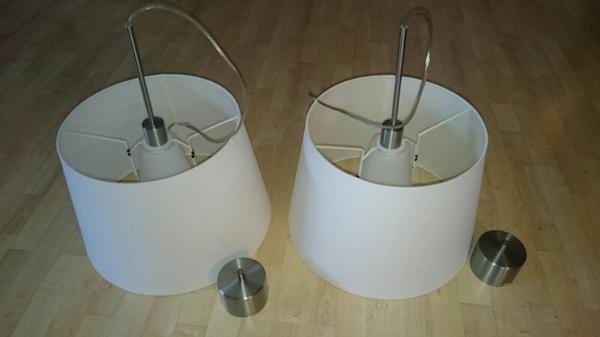 deckenleuchte h ngeleuchte esstischlampe ikea schirm wei 2 stck in m nchen lampen kaufen und. Black Bedroom Furniture Sets. Home Design Ideas