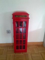 Dekoschrank englische Telefonzelle