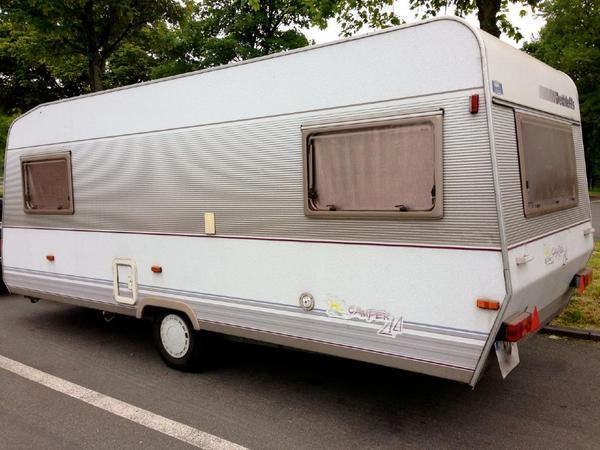 wohnwagen dethleffs camper 530 tk mit kinderzimmer. Black Bedroom Furniture Sets. Home Design Ideas