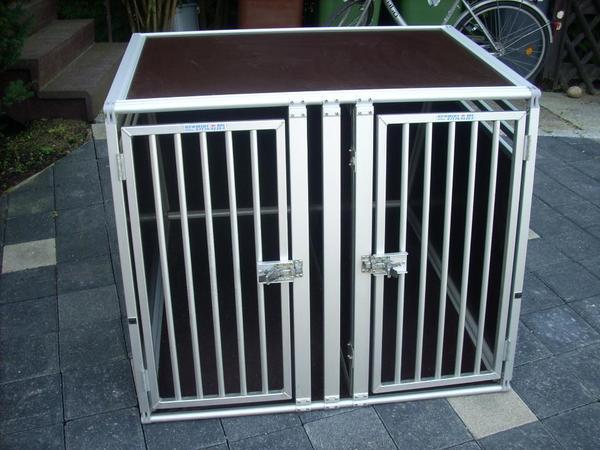 doppel hundebox von schmidt in marbach zubeh r f r. Black Bedroom Furniture Sets. Home Design Ideas