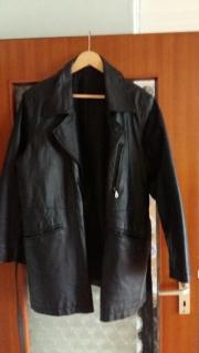 Echte schwarze Lederjacke