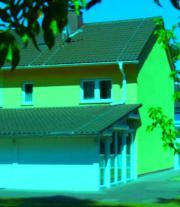 Energiesparhaus mit Wintergarten