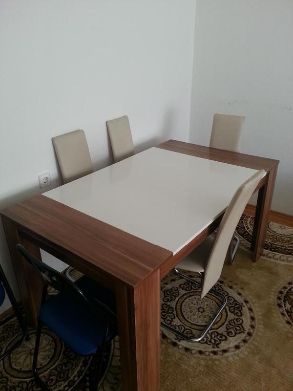 esstisch nussbaum neu und gebraucht kaufen bei. Black Bedroom Furniture Sets. Home Design Ideas