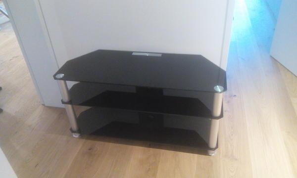 fernsehtisch glas schwarz in lustenau phono tv videom bel kaufen und verkaufen ber. Black Bedroom Furniture Sets. Home Design Ideas