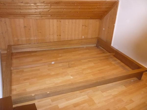 futon bett massiv holz neu original verpackt 140 x 200 cm liegefl che in muggensturm. Black Bedroom Furniture Sets. Home Design Ideas