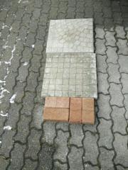 Gehwegplatten und Klinker