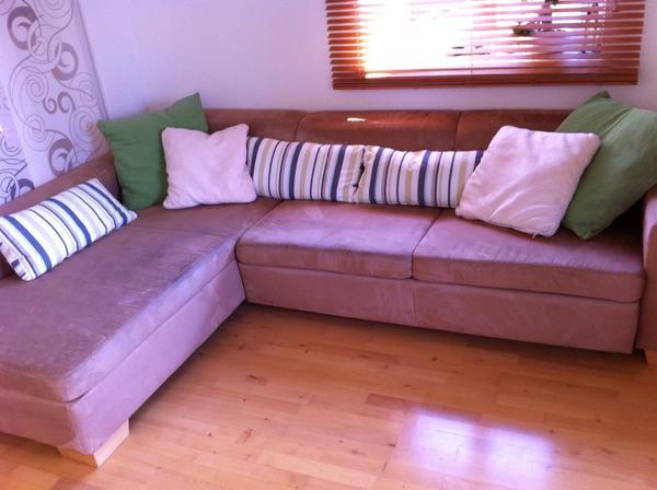 gem tliche couch mit ausziehfunktion in cappuccino in sauerlach polster sessel couch kaufen. Black Bedroom Furniture Sets. Home Design Ideas