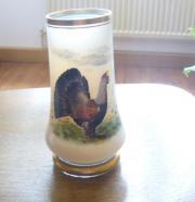 Glaskrug mit Auerhahn-