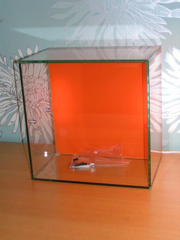 glasvitrine vitrine f r sammelobjekte hintergrundbeleuchtung in darmstadt modellautos kaufen. Black Bedroom Furniture Sets. Home Design Ideas
