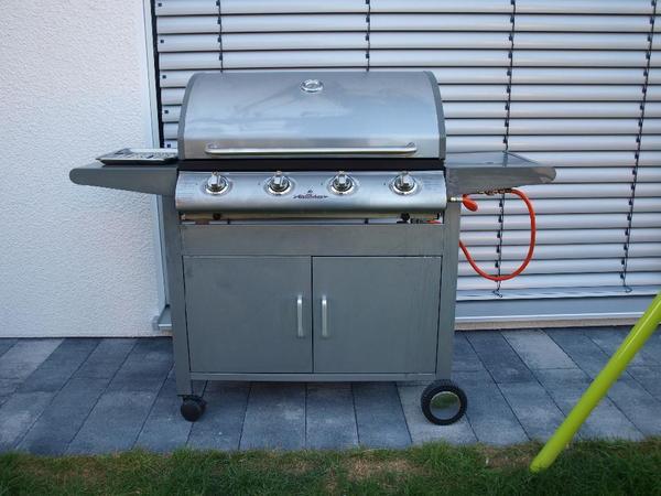 grillstar gasgrillwagen incl gasflasche 4 brenner in. Black Bedroom Furniture Sets. Home Design Ideas