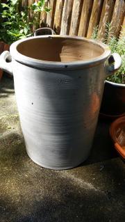 Großer, alter Keramiktopf /