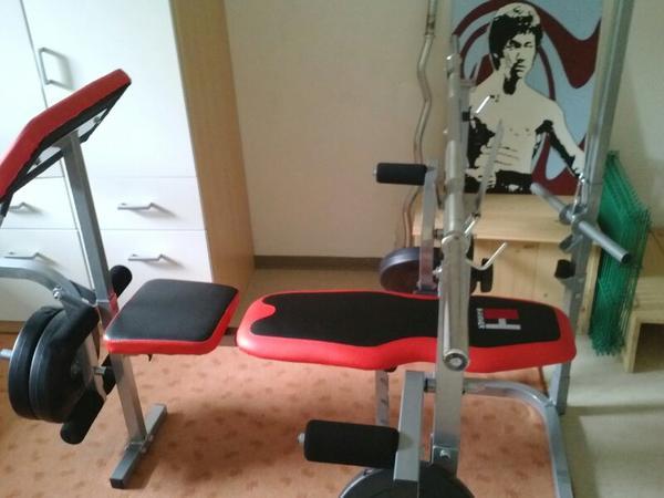 hantelbank mit gewichten in frankfurt fitness. Black Bedroom Furniture Sets. Home Design Ideas