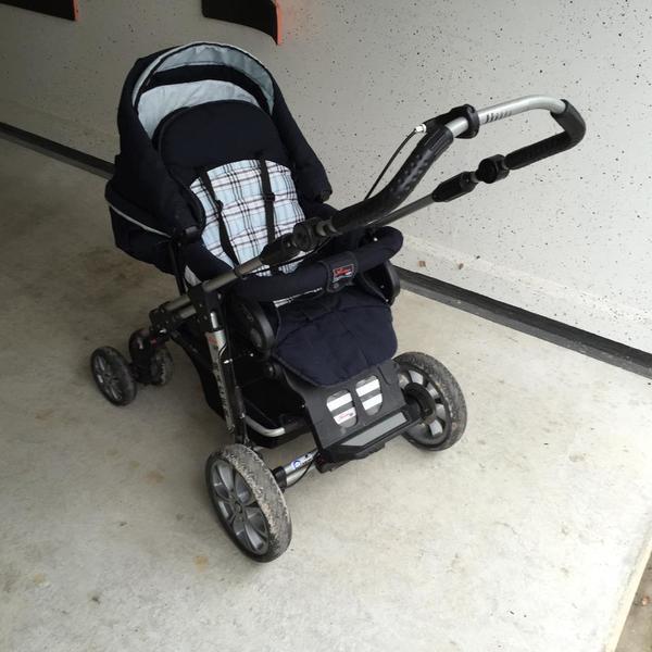 Hartan Racer S Kinderwagen, Kombikinderwagen, Adapter Maxi Cosi Pebble gebraucht kaufen  60437 Frankfurt