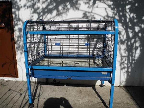 hasenk fig kaninchen hamsterk fig blau mit seitl. Black Bedroom Furniture Sets. Home Design Ideas