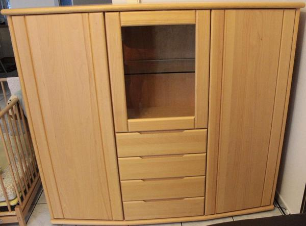 Ikea highboard buche interessante ideen f r for Sideboard vollholz