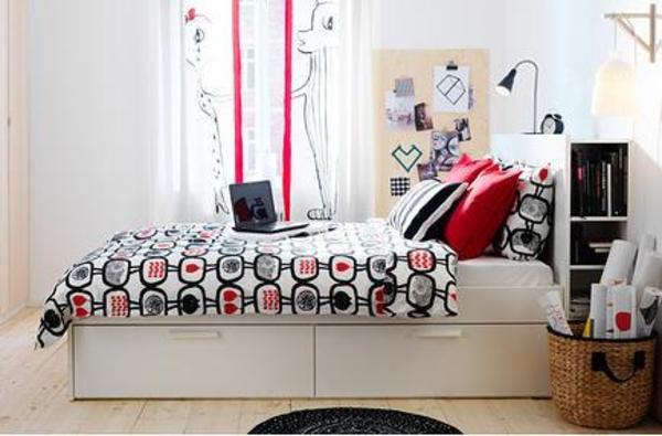 Ikea Drehstuhl Neu Beziehen ~ IKEA Bett BRIMNES mit Kopfteil in Rauenberg  IKEA Möbel kaufen und