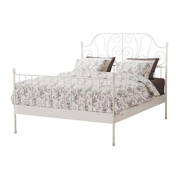 ikea bett leirvik bettgestell wei 180x200 wie neu in erlangen ikea m bel kaufen und. Black Bedroom Furniture Sets. Home Design Ideas