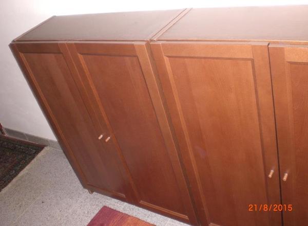 wir verkaufen 2 st ck ikea billy regale mit t ren siehe fotos farbe dunkelbraun. Black Bedroom Furniture Sets. Home Design Ideas