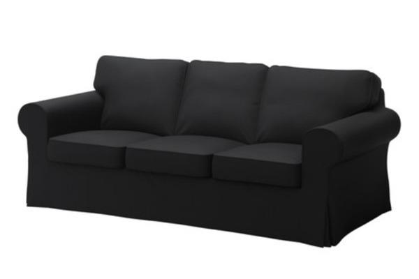 ikea ektorp 3er sofa schwarz hocker in w rzburg ikea m bel kaufen und verkaufen ber private. Black Bedroom Furniture Sets. Home Design Ideas