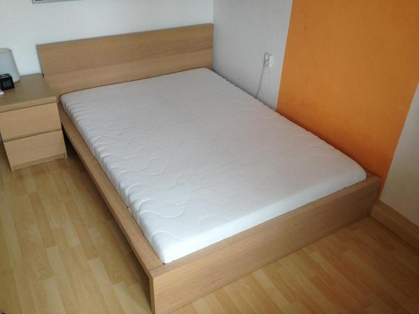 ikea malm 140x200 bett mit double de luxe matratze und lattenrost np 500eur in ludwigshafen. Black Bedroom Furniture Sets. Home Design Ideas