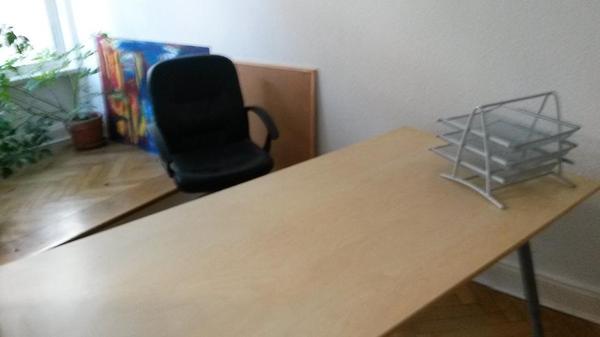 Ikea Regal Für Bilderrahmen ~ IKEA Schreibtisch + Sessel + Ablage in Berlin  Büromöbel kaufen und