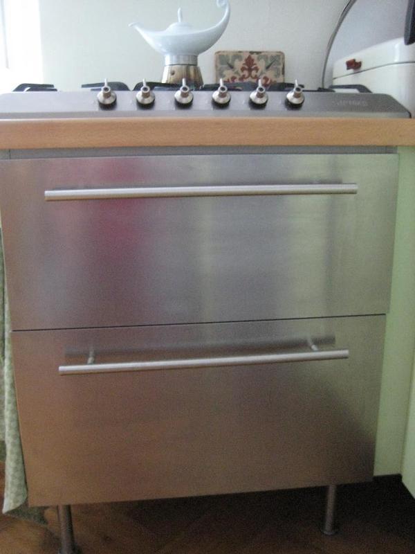 ikea schubladenschrank system von 2008 60 breit x 60 hoch cm edelstahlfront zwei schubladen. Black Bedroom Furniture Sets. Home Design Ideas