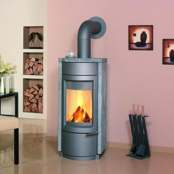 kaminofen hark domo dauerbrandofen mit glasuntersatz und. Black Bedroom Furniture Sets. Home Design Ideas