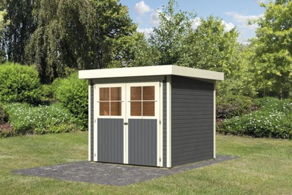 karibu gartenhaus limburg 3 grau schuppen fenster 2 t ren. Black Bedroom Furniture Sets. Home Design Ideas