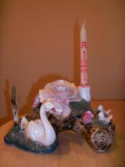 Kerzenständer deko porzellan